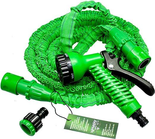 Xpansy C2607A Hose Basic - Manguera Extensible con la Presión del Agua, Verde, 7, 5 metros: Amazon.es: Jardín