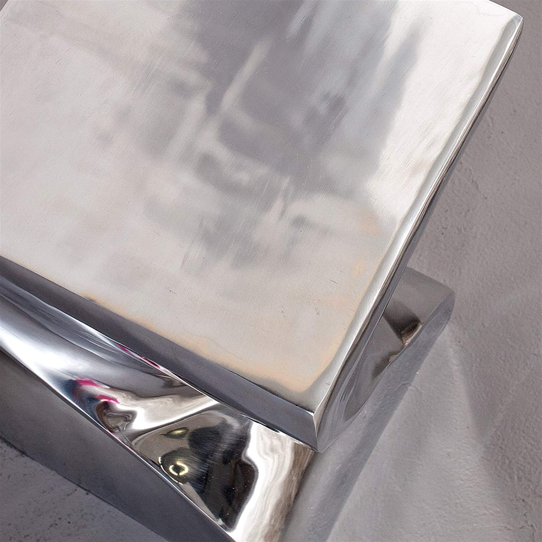 Tidyard Table Basse Moderne Table dappoint 35x35x35 cm en Aluminium Moul/é Argent/é