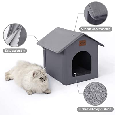 Buy Love S Cabin Outdoor Cat House Weatherproof For Winter Collapsible Warm Cat Houses For Outdoor Indoor Cats Feral Cat Shelter With Removable Soft Mat Easy To Assemble Igloo Dog House For Small Dogs