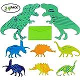 My Greca Dinosaur Birthday Invitations-Dinosaur Party supplies invitations - 24 dinosaur invitation cards with envelops…