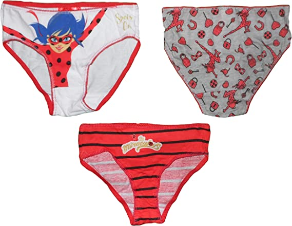 Miraculous Ladybug Girls Three Pack Underwear Knickers Set