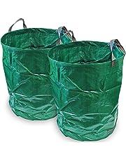 CampTeck 2x 300 Litros Bolsa de Jardín para Residuos Polipropileno Resistente Saco de Jardín Reutilizable