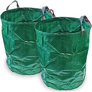CampTeck U6714-KIT 2X 300 litros Bolsa de Jardín Compatible con Residuos Polipropileno Resistente Saco de Jardín Reutilizable: Amazon.es: Deportes y aire libre