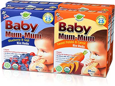 Amazon.com: Hot-Kid Baby Mum-Mum Organic Crackers, Rice