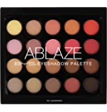 Bys Ablaze Eyeshadow Palette - 20 matte and metallic eyeshadow shades, Mica smooth finish on lids soft easy to blend pigment true to color infinite looks