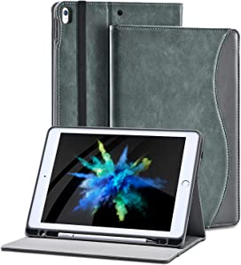 2019 iPad pro 10.5 Case with Pencil Holder for iPad Air 3rd Gen Cover/ipad pro10.5 inch 2017 and Multiple Viewing Angles Stand,Shockproof Soft TPU Cover+ Auto Sleep/Wake+Pocket (Dark Grey)