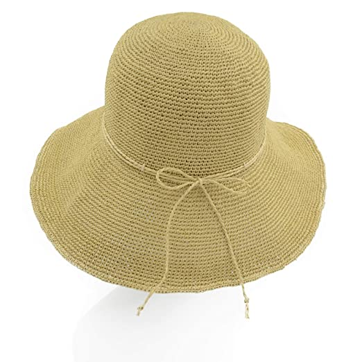 78a3d55a9c9 Melesh Women s Bucket Hats Fashion Womens Summer Beach Sun Straw Hat  (Khaki) at Amazon Women s Clothing store