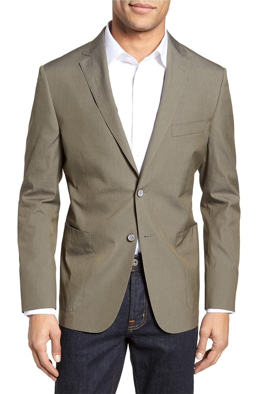 [エイチ] メンズ ジャケットブルゾン H Modern Fit Stretch Cotton Blend Blazer [並行輸入品] B07DW19VZZ 42_R