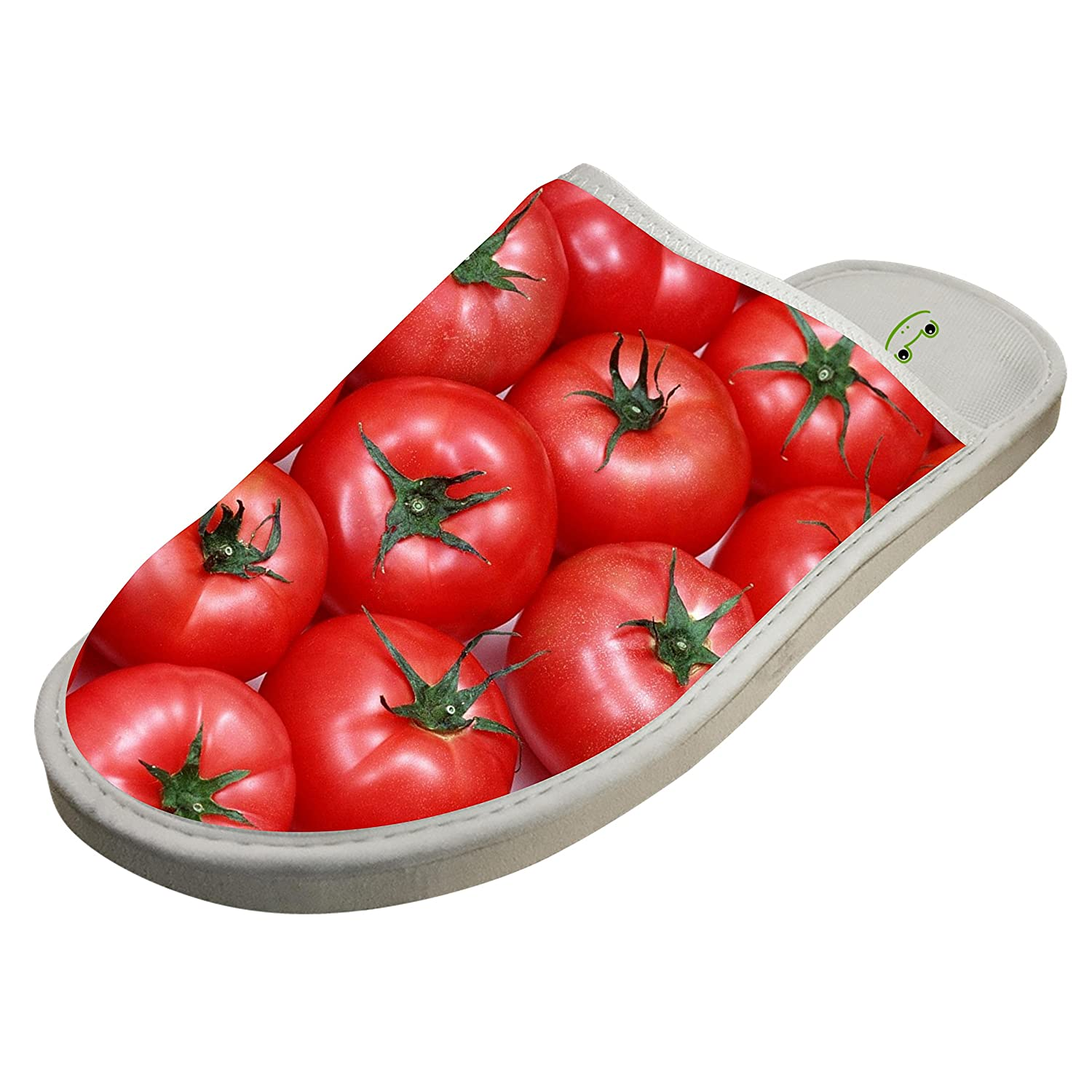 Love Apple Cherry Tomato Slippers Home Slip-On Sandals Flat Sleeppers Shoes Custom Flip-Flops Adults