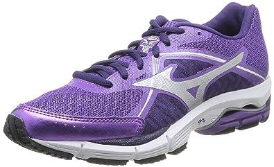 d79d0d02c714 Mizuno SS15 Womens Wave Ultima 6 Running Shoes - Cushion - Purple - UK 5.