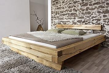 SAM Massiv-Holzbett 180x200 cm James, Bett aus geölter Wildeiche ...