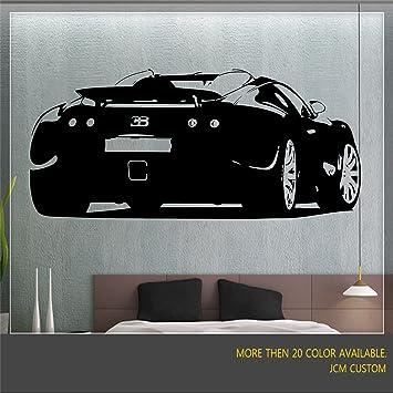 Bugatti Veyron Vinilo de Pared Arte Calcomanías decorativas decoración del hogar