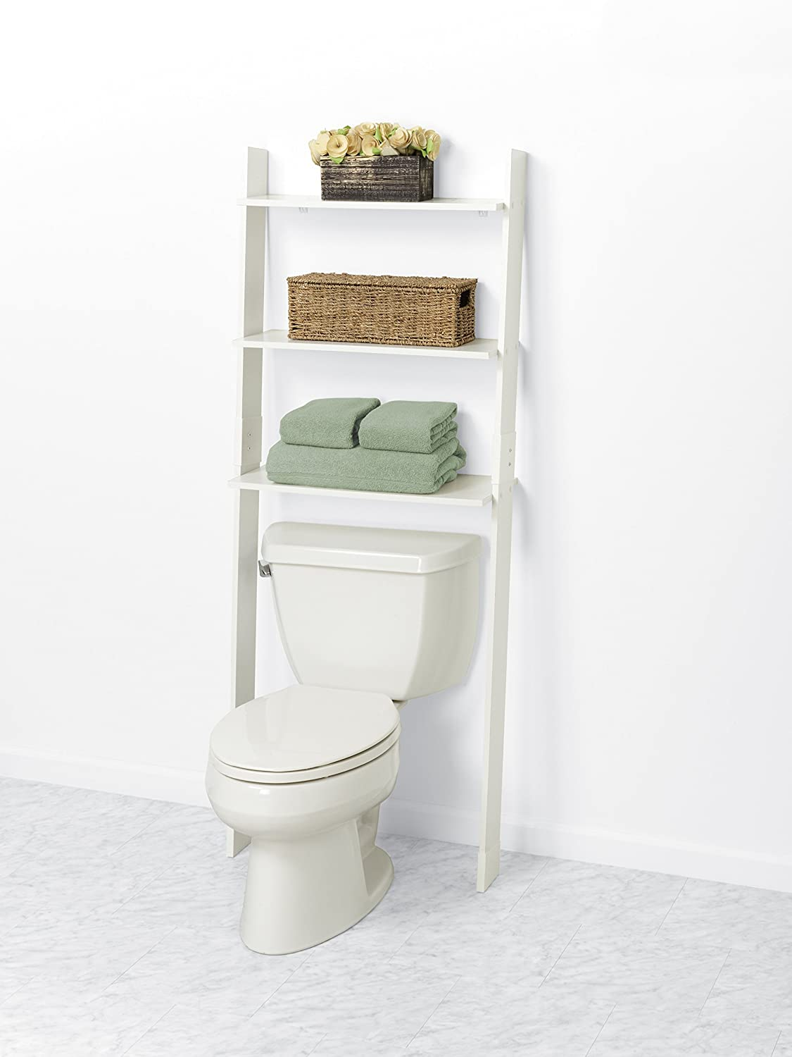 Charmant Amazon.com: Zenna Home 9431W, Wood Ladder Bathroom Spacesaver, White: Home  U0026 Kitchen