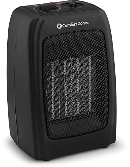 Bovado USA 166648 Ceramic Space Heater, Personal Warming Fan with Adjustable Thermostat