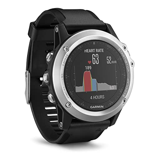 Garmin Fenix 3 HR GPS Multisport Watch with Outdoor Navigation and Wrist Based Heart Rate - Silver Edition