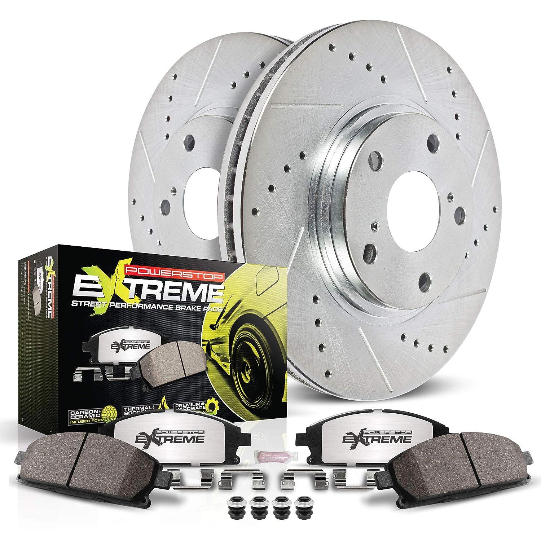 Power Stop K6001-26 Rear Z26 Street Warrior Performance Brake Kit/