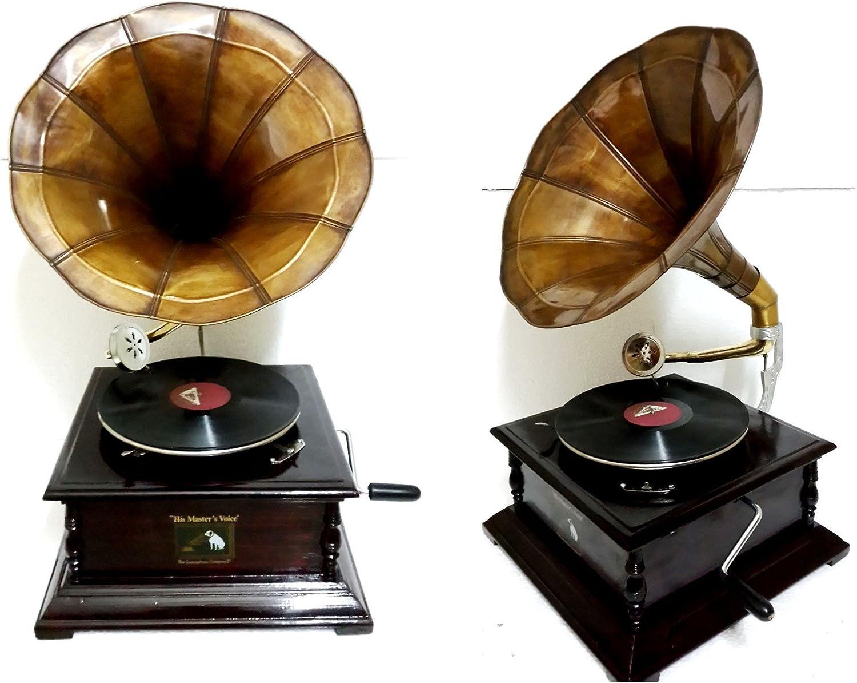 Réplica RCA Victor gramófono Tocadiscos plana cuadrada con Base y ...