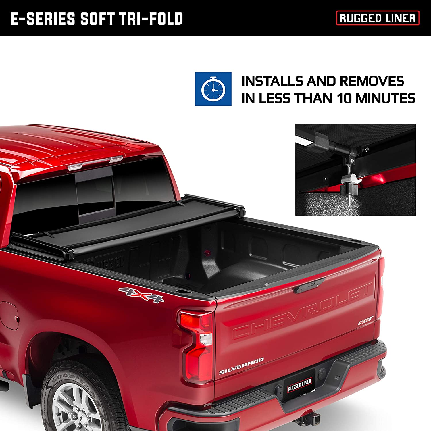 Eh F5509 Rugged Liner E Series Hard Folding Truck Bed Tonneau Cover Fits 2009 2014 Ford F 150 5 5 Bed Automotive Tonneau Covers