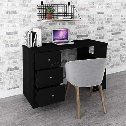 KMS FoxHunter - Escritorio para ordenador con 3 cajones 3 estantes ...