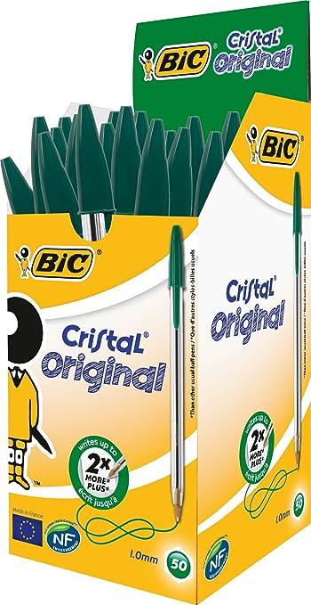 342 opinioni per Bic Cristal Original Punta Media 1 mm Confezione 50 Penne Colore Verde