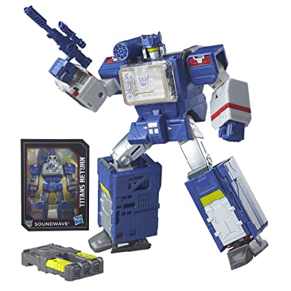 Amazon Com Transformers Generations Titans Return Soundwave And
