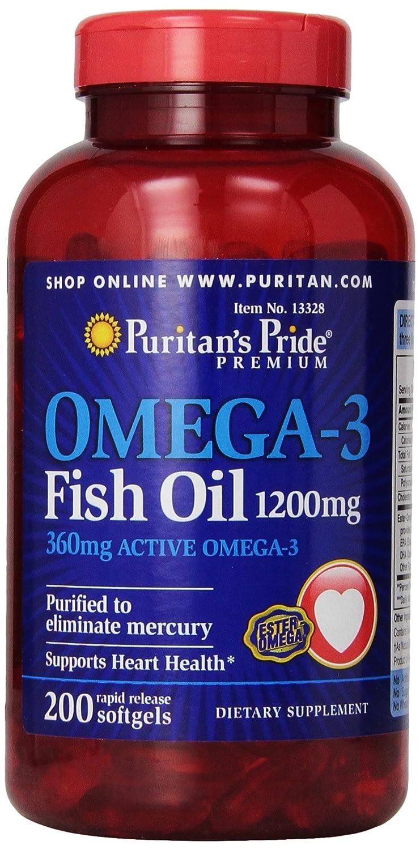 ピューリタンズプライド(Puritan's Pride) オメガ3 魚油 フィッシュオイル 1200 mg.ソフトジェル B004R61IZO