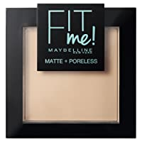 Maybelline New York Fit Me Matte&Poreless Cipria Opacizzante e Fissante, Pennello e Specchietto Inclusi, 115 Ivory