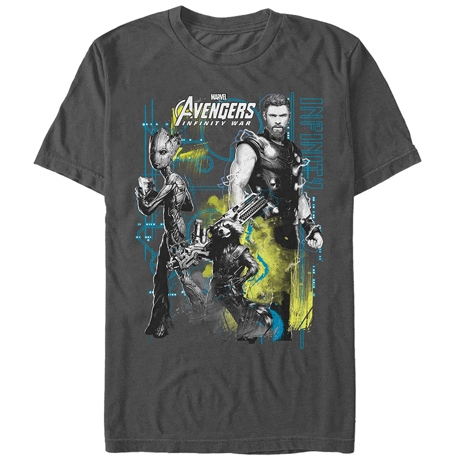 8f5a63e97 Amazon.com: Marvel Men's Avengers: Infinity War Space Crew T-Shirt: Clothing