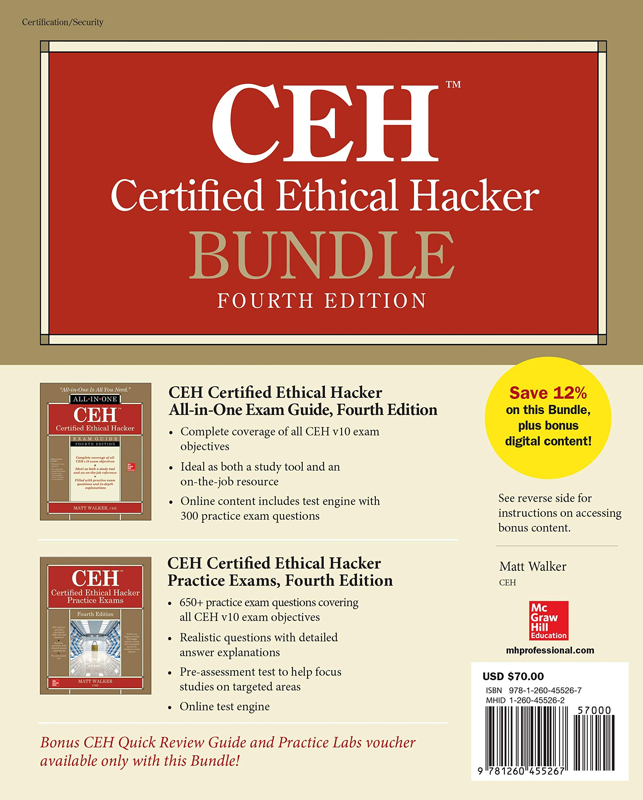 CEH Certified Ethical Hacker Bundle, Fourth Edition by McGraw-Hill Education