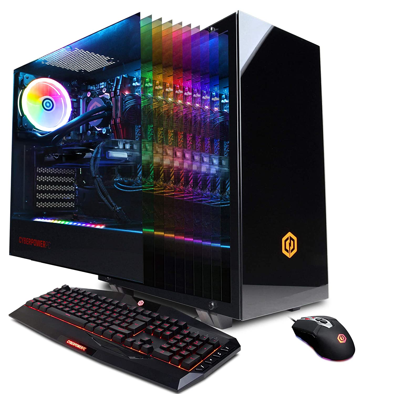 CYBERPOWERPC Gamer Supreme Liquid Cool SLC10200CPG Gaming PC (Intel i9-9900K 3.6GHz, 16GB DDR4, NVIDIA GeForce RTX 2070 8GB, 1TB SSD, WiFi & Win 10 Home) Black