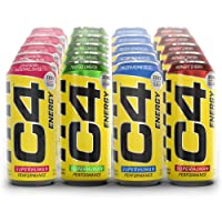 Cellucor C4 Energy 4 Flavor Variety Pack 16oz (Pack of 20) | Sugar Free Energy Drink for Men & Women | Pre Workout Performance Drink with No Artificial Colors or Dyes