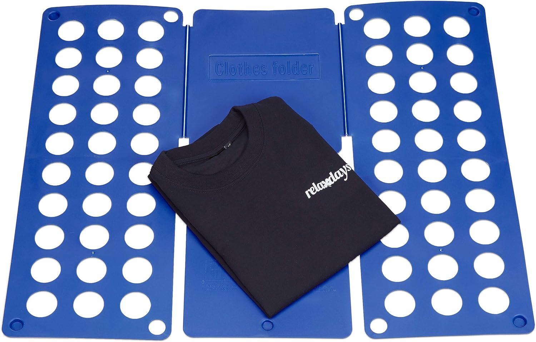 Relaxdays Doblar la Ropa 59 x 69 cm Toallas Azules Ropa Camisas Pantalones Ropa Camiseta Polo fácil de Usar