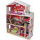 XXL Barbie Puppenhaus Residenz Luxus Malibu Barbiehaus Puppenhaus Puppenstube Holz NEU 4118