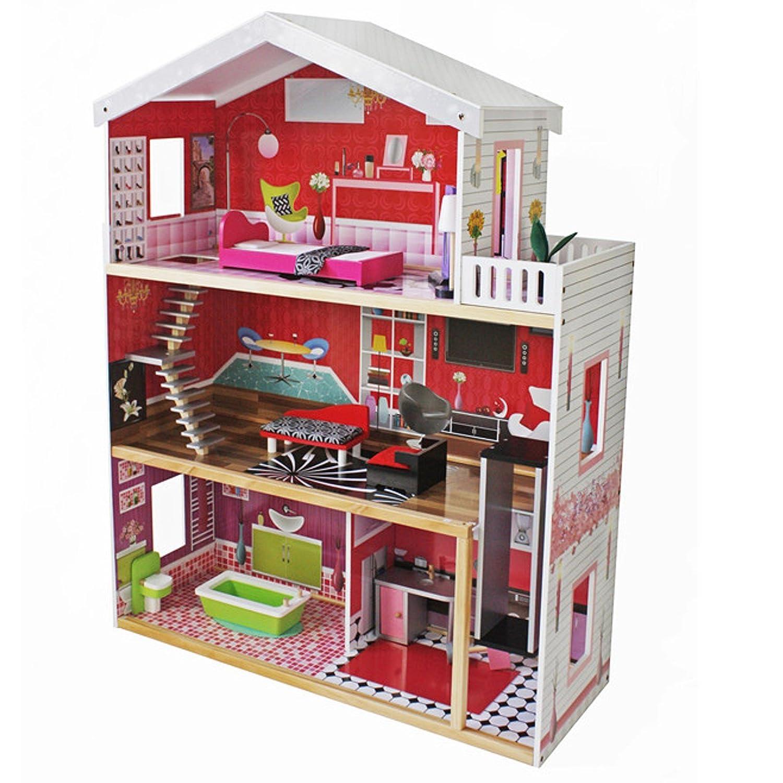 Barbie Haus Holz - XXL Barbie Puppenhaus Residenz Luxus