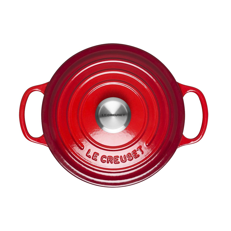 cerise 18cm Le Creuset Cocotte Signature ronde en fonte /émaill/ée