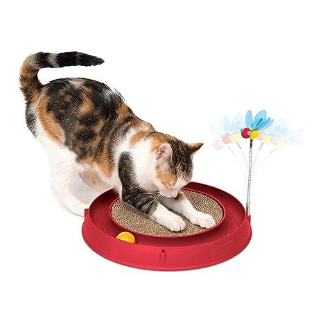 Catit Play - Pelota de Circuito de Juguete para Gato, Color Rojo