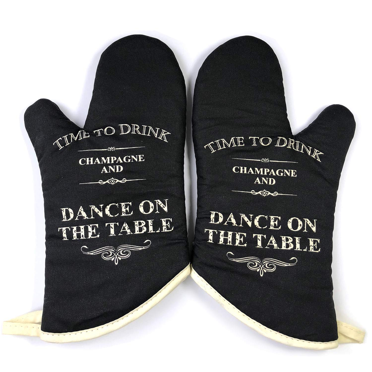 GREVY Vintage Oven Mitts with a Greeting Card (Drink-Dance)
