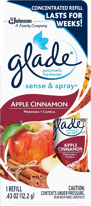 Glade Sense & Spray Automatic air freshener Refill, Apple Cinnamon