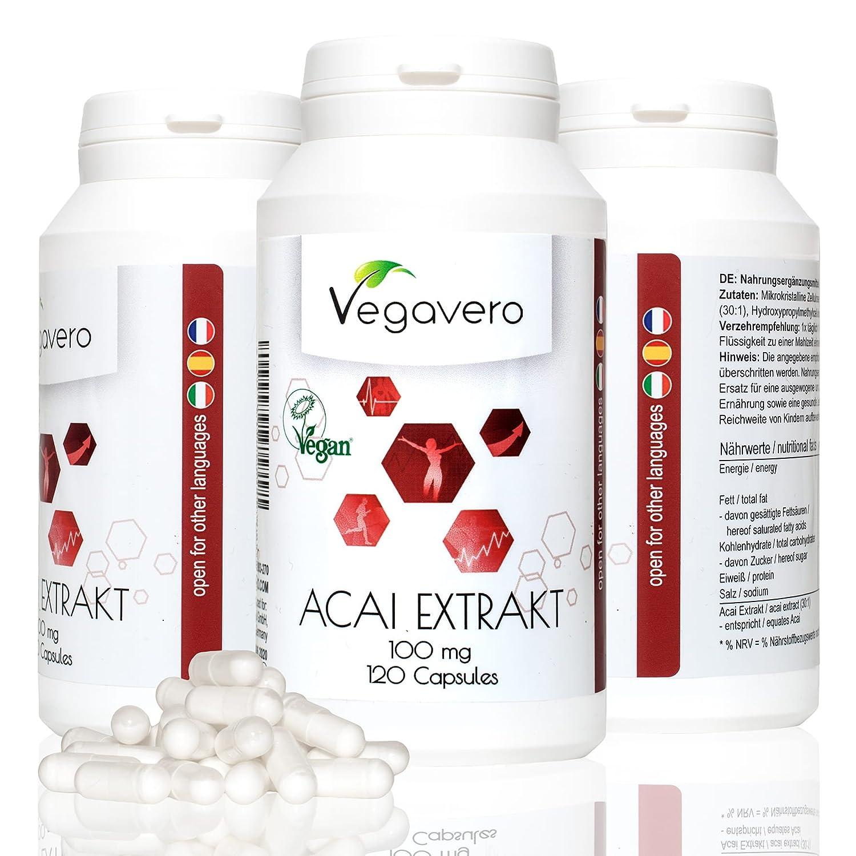 Acai de Vegavero  quemagrasa – antioxidante – energético  cápsulas calidad