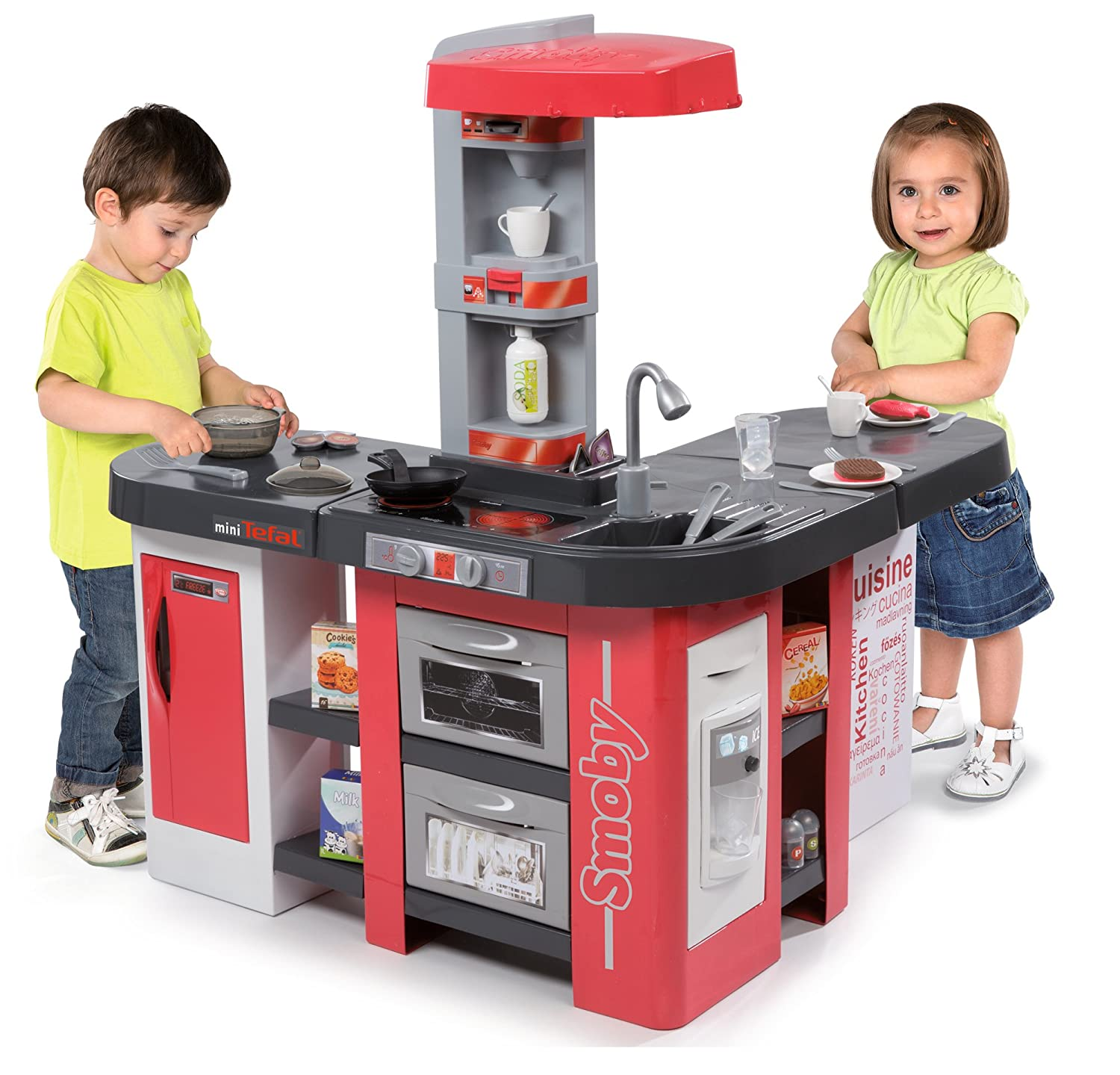 Theo Klein Küche | Smoby 7600311014 Tefal Studio Bubble Play Kitchen 2x Large