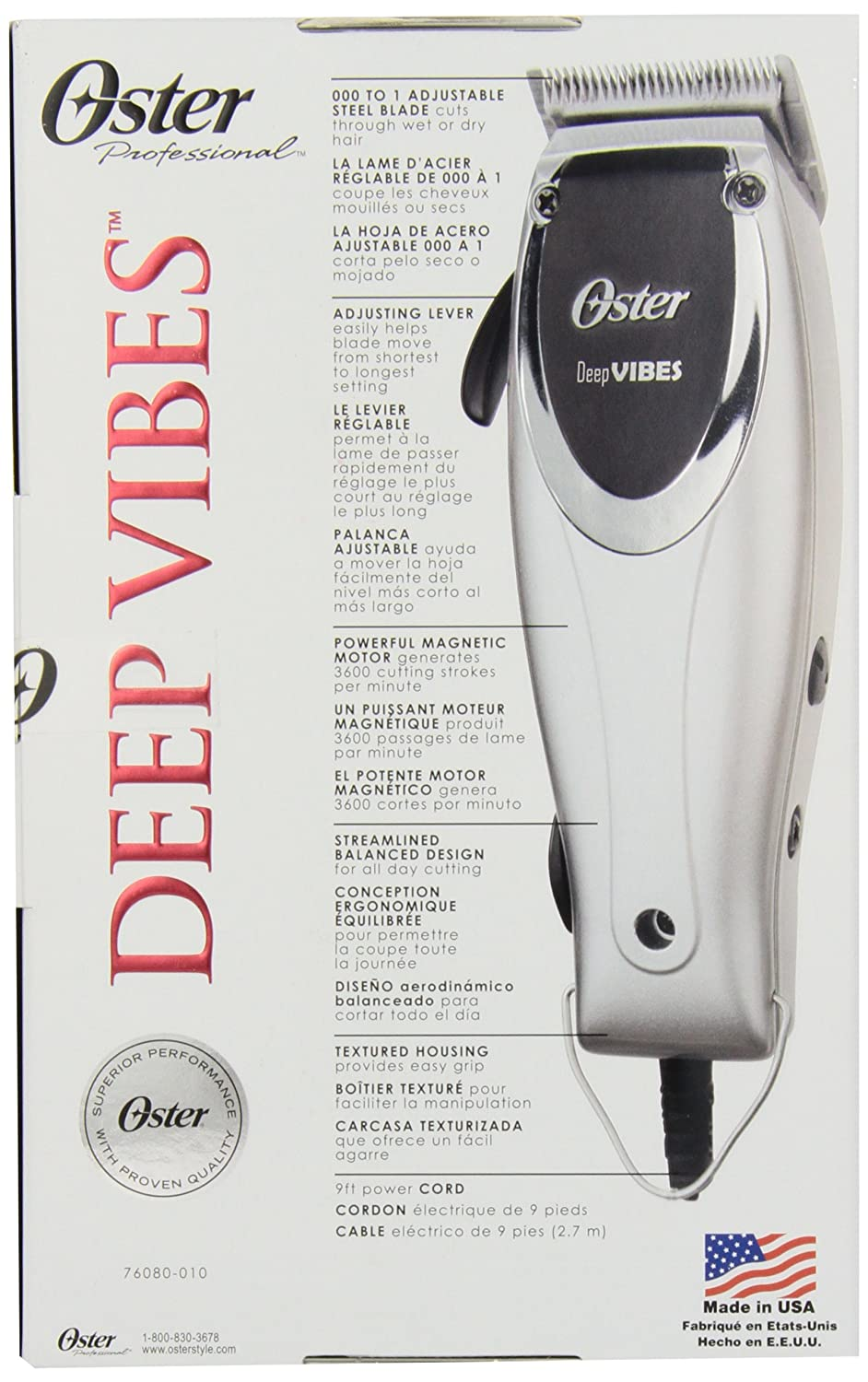 Amazon.com: Oster Professional 76080-10 Deep Vibes Professional Adjustable Vibrating Clipper: Beauty
