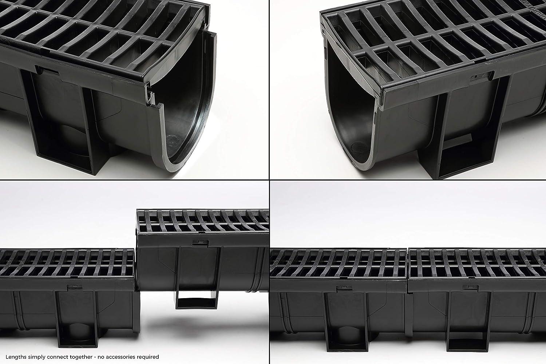 ... De Polímero De Drenaje regulartrench talón con rejilla - Pack con 2 tapones - para sistemas de drenaje, garaje, sótano, piscinas, etc.