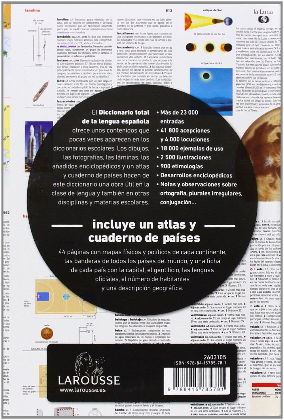 Diccionario Total de la Lengua Española Larousse - Lengua Española - Diccionarios Escolares: Amazon.es: Larousse Editorial: Libros