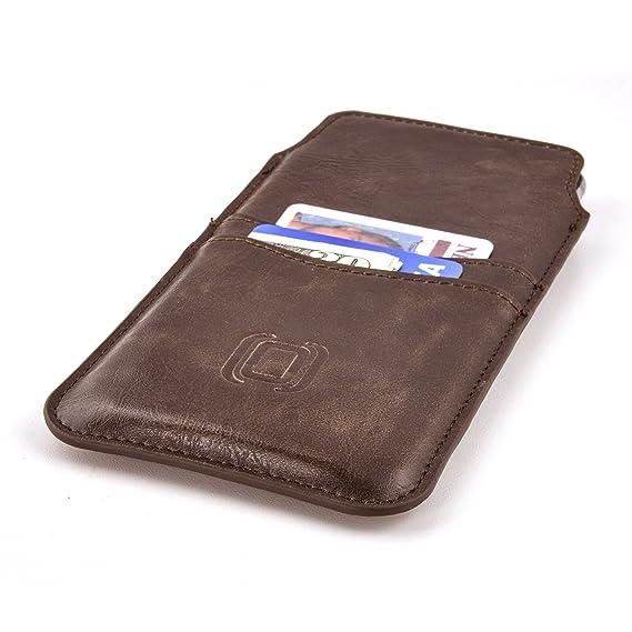 Dockem Funda de móvil Tarjetero iPhone 8 Plus, 7 Plus, 6 Plus/6S Plus, Piel sintética, Ultra Delgada, Estilo Ejecutivo con Dos Ranuras para Tarjetas, ...
