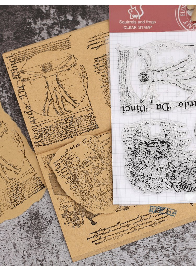 Layhome Vintage Clear Stamp Stamping Scrapbooking Notebook Album Cards Decor (Da Vinci) by Layhome (Image #2)
