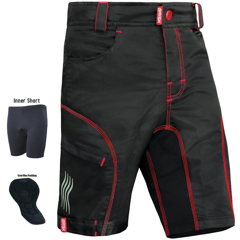 Hombre Brisk Bike MTB Cycling Shorts Pantalones cortos