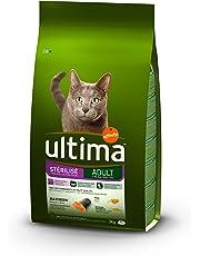 Ultima Croquettes pour Chat Stérilisé avec Saumon - 3 kg