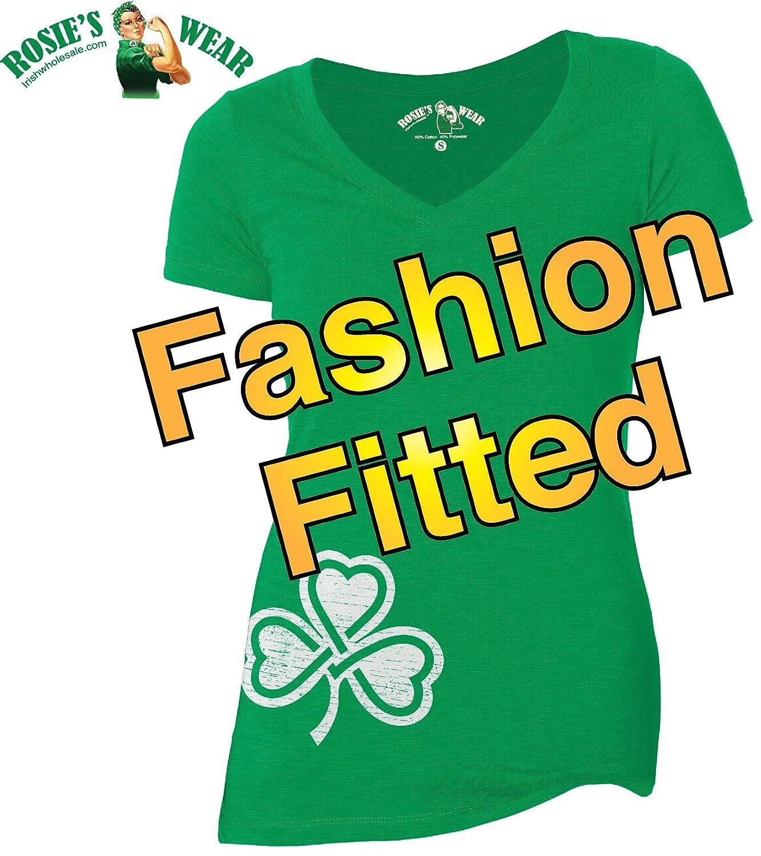 5da7713ce Amazon.com: St. Patrick's Day Irish Shirt Womens Cute Shamrock Clover  V-Neck Irish T-Shirt: Clothing