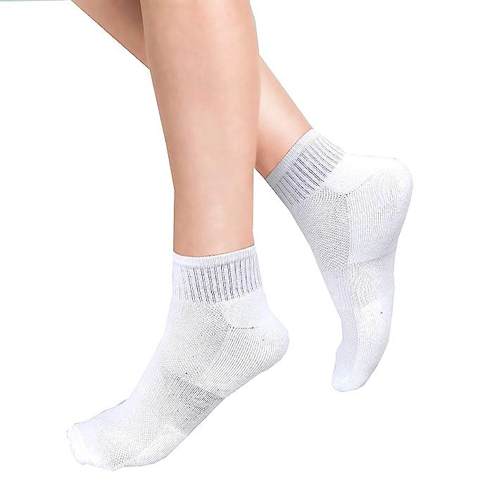 12 X Pairs Mens Women Trainer Liner Ankle Socks Size 4-7,6-11 White /& Black Gym