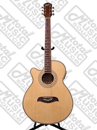 Amazon Com Oscar Schmidt Og10ce Left Handed Concert Size Cutaway